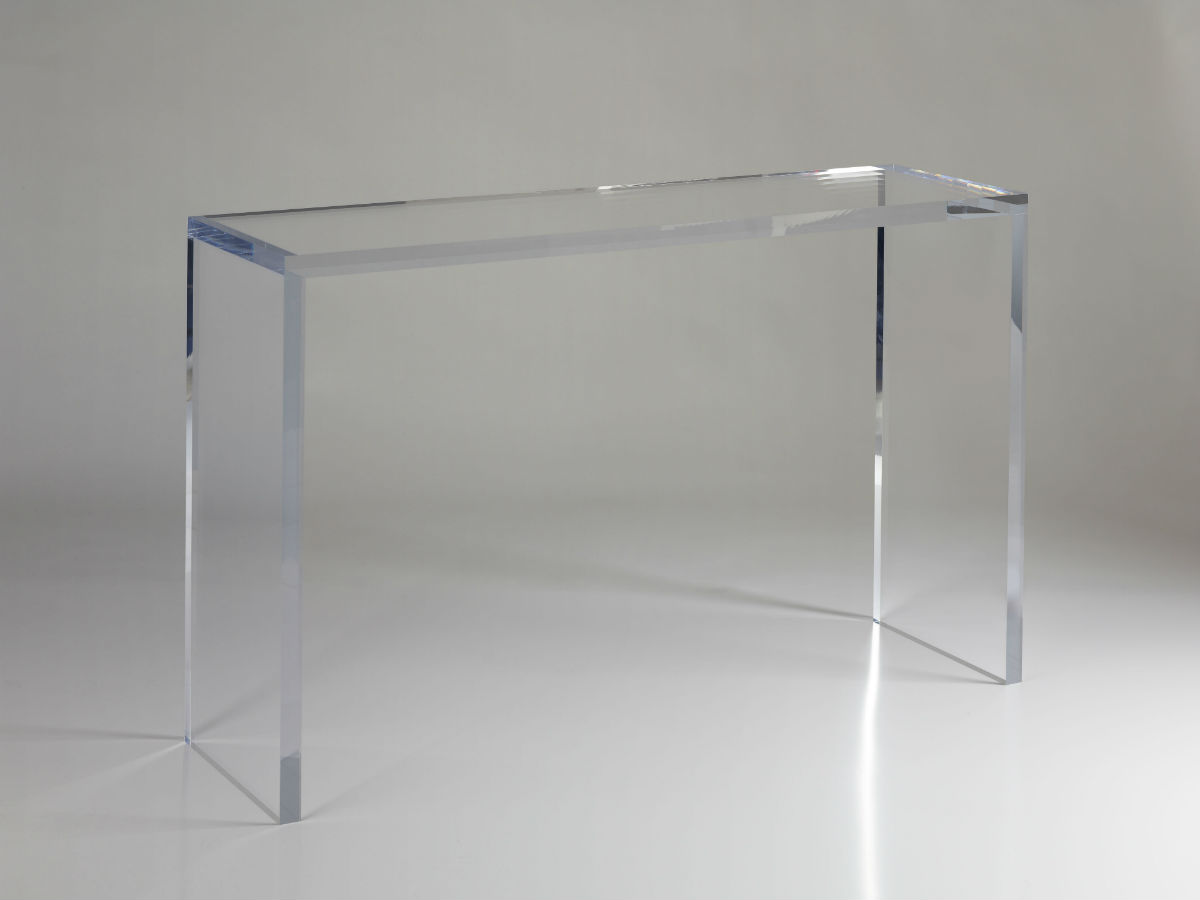 console epure en plexiglas pluxi fabricant plexiglas. Black Bedroom Furniture Sets. Home Design Ideas