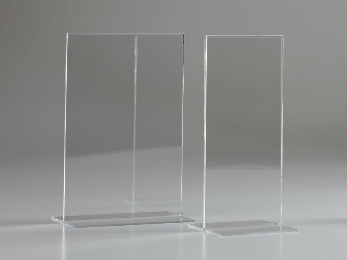 Porte menu a5 portrait en plexiglas pluxi fabricant for Porte coulissante plexiglas