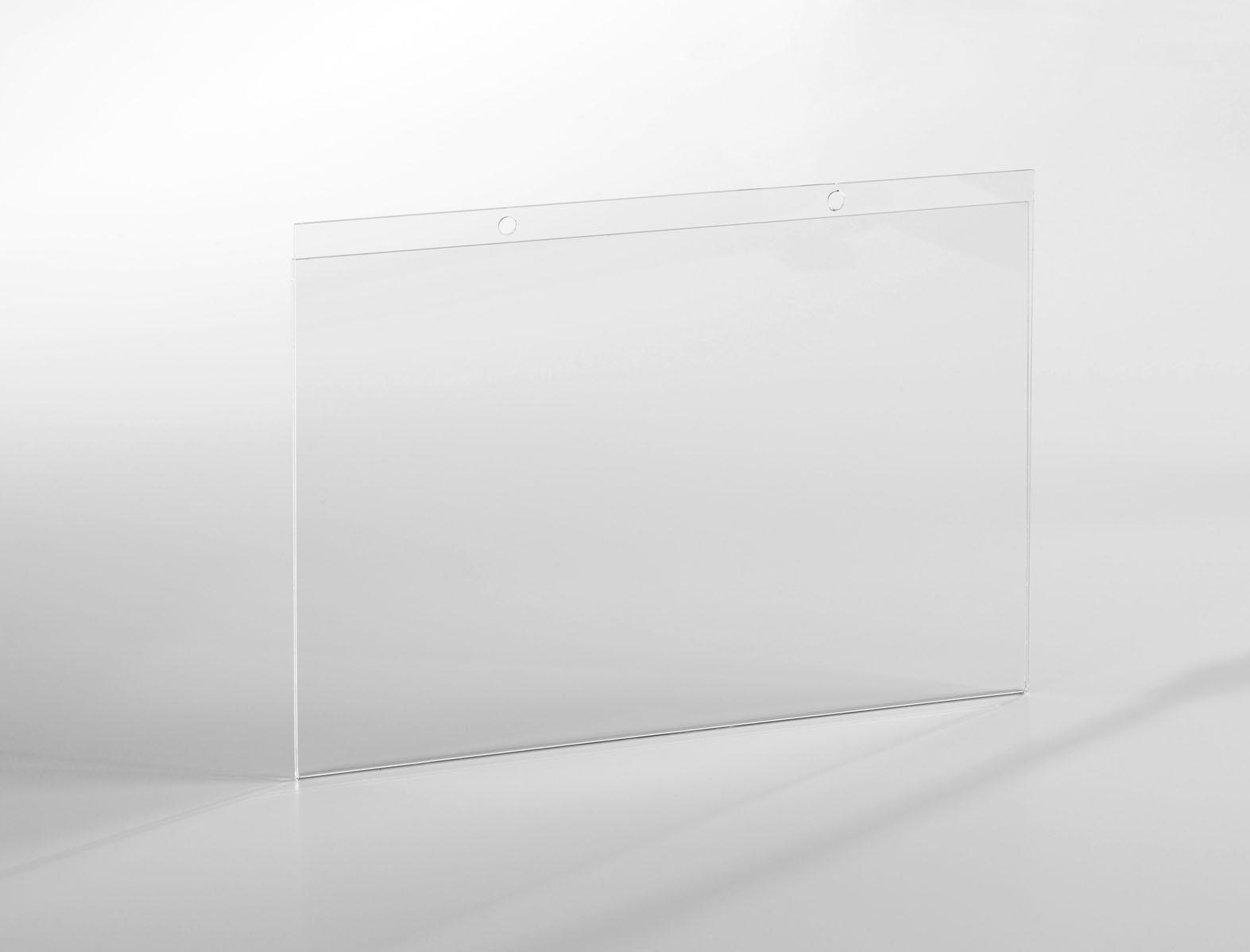 porte affichette a3 paysage fixation par vis en plexiglas pluxi fabricant plexiglas. Black Bedroom Furniture Sets. Home Design Ideas